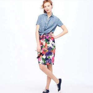 J. Crew | Garden Floral Pencil Skirt
